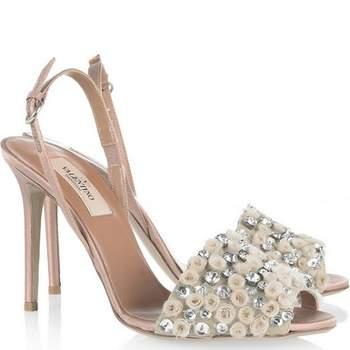 Sandales argentées Valentino. Photo : Net-a-Porter