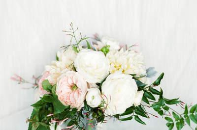 No te pierdas los ramos de novia con peonias. ¡Los querrás todos!