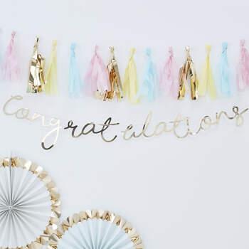 """Guirnalda """"Congratulation""""- Compra en The Wedding Shop"""