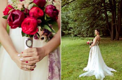 Свадьба Ирины и Артема: малиновая сказка