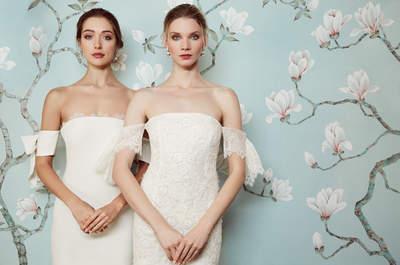6 motivos por los que la novia con escote Bardot es la tendencia que verás en todas partes