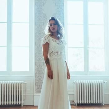 Robe de mariée chic et moderne modèle Elina - Crédit photo: Elsa Gary
