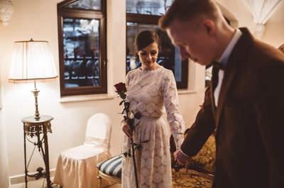 Zimowy, alternatywny ślub Ewy i Wiktora. Oto klucz do pięknych zdjęć! Zapraszamy!
