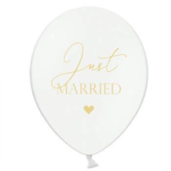 Globos Just Married corazones 50 unidades- Compra en The Wedding Shop