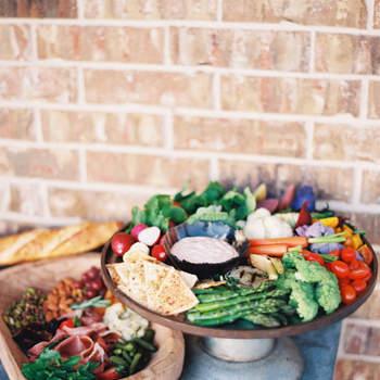 Corner de verduras e dipping. Allen Tsai Photography