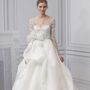 Robe de mariée décolleté en coeur et coupe princesse. Monique Lhuillier 2013