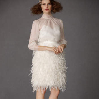 Frolicking Feathers Skirt, 850$ www.bhldn.com