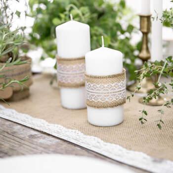Cinta de Yute con Encaje Blanco 5 cm- Compra en The Wedding Shop