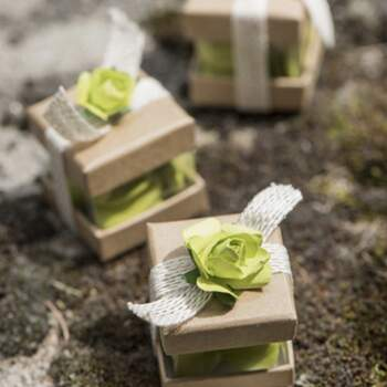 Boite À Dragées Cube Kraft 6 Pièces -  The Wedding Shop !