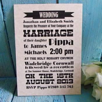 Faire-part de mariage vintage Boutique LittleCornishDesign sur Etsy.com