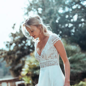 Photo : Guillaume Gilles - Elsa Gary, robe de mariée Espérance