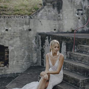 Una elegante y sensual propuesta para las novias más femeninas y atrevidas.