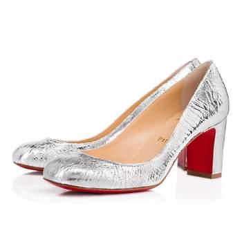 Chaussures de mariée argentées Cadrilla Broken Glass, Christian Louboutin