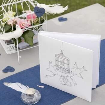 Livre D'or Pigeonts Alliances - The Wedding Shop !
