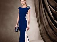 Robes d'invitée bleues et longues 2017