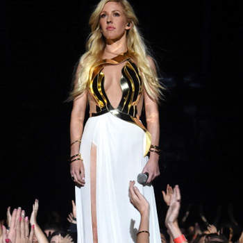 LOS ANGELES, CA - APRIL 13:  Recording artist Ellie Goulding performs onstage at the 2014 MTV Movie Awards at Nokia Theatre L.A. Live on April 13, 2014 in Los Angeles, California.  (Photo by Jeff Kravitz/FilmMagic)