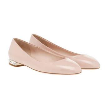 Rosa farbene Schuhe mit wenig Absatz