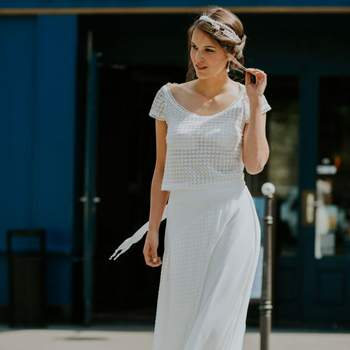 Robe de mariée vintage modèle Violette - Crédit photo: Elsa Gary