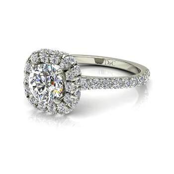 Photo : Diamants et Carats - modèle : Margueritta diamant rond