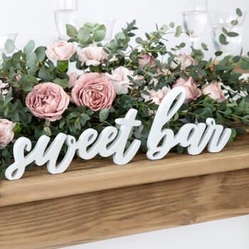"Letras ""sweet bar""- Compra en The Wedding Shop"