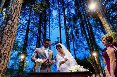 Juliana & Wilton Junior: sunset wedding MEGA romântico no campo!