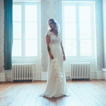 Robe de mariée chic et moderne modèle Anne - Crédit photo: Elsa Gary