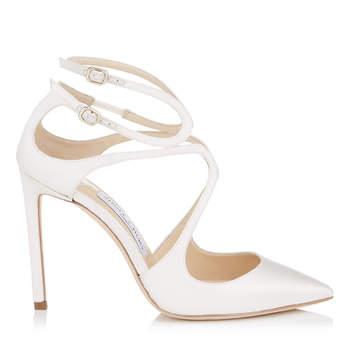 Chaussures de mariée blanches LANCER 100, Jimmy Choo