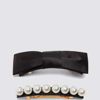 Fiocco per capelli con perle Zara