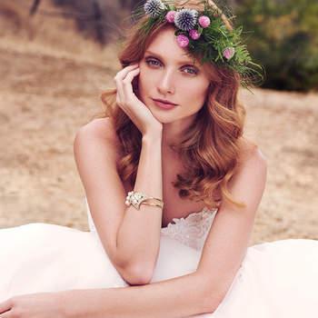Wie ein Ballkleid wird Sie dieses Modell umhüllen. Passend zu dem Brautkleid Irma können Sie auch einen Blumenkranz tragen –eine Prinzessin wie aus einem echten Märchen!