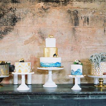 Inspiração para bolos de casamento diferentes e originais | Créditos: Mint Photography