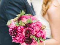 Bouquet da sposa di peonie 2017