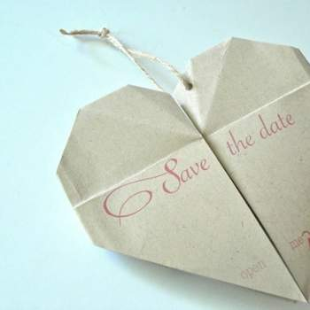 Save the Date en origami Boutique mojomadesvm sur Etsy.com