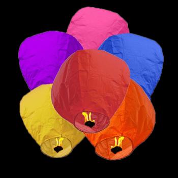 Lanternes volantes multicolores 10 pièces - The Wedding Shop