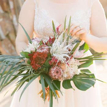 Bouquet de mariée fleurs multicolores Jenn Emerling