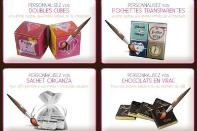 Chocolat de mariage : plus qu'un cadeau pour vos invités, une véritable décoration pour votre mariage