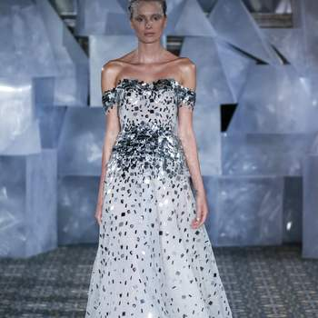 MIRA ZWILLINGER. Credits: New York Bridal Fashion Week
