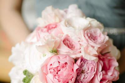 Bouquet da sposa sui toni del rosa: romanticismo moderno