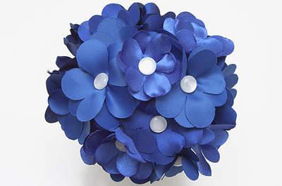 Ramo de novia de color azul, perfecto para seguir la tradición. Foto: B de Blanca