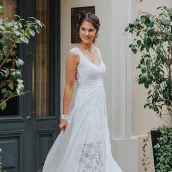Robe de mariée vintage modèle Pauline - Crédit photo: Elsa Gary