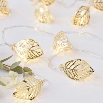 Lumières Feuilles D'or - Achetez sur The Wedding Shop !