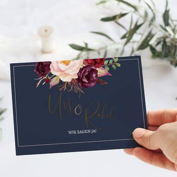 """Einladung Design """"Marsala"""""""