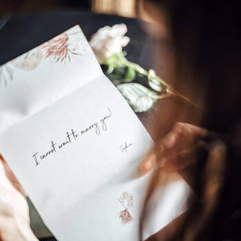 Romantic letter before the wedding