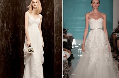 Dicas para escolher um vestido de noiva que disfarce a barriguinha