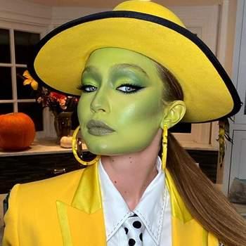"""Gigi Hadid ( Jim Carrey em """"A Máscara"""").Foto IG"""