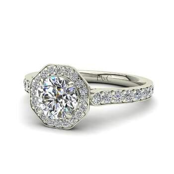 Photo : Diamants et Carats - Modèle : Fanny 0.60 carats en or blanc