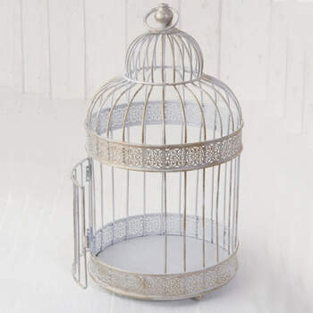 Jaula Decorativa De Metal- Compra en The Wedding Shop