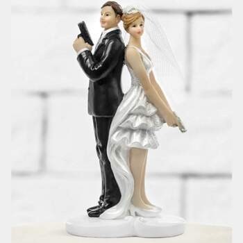 Cake Topper Agents Secrets - The Wedding Shop !