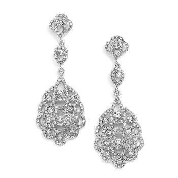 Photo : Carini Accessoires. Boucles d'oreilles chandelier