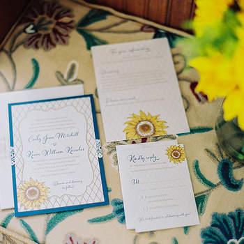 Słoneczniki w bukiecie i dekoracjach ślubnych.