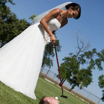 Une partie de golf originale.